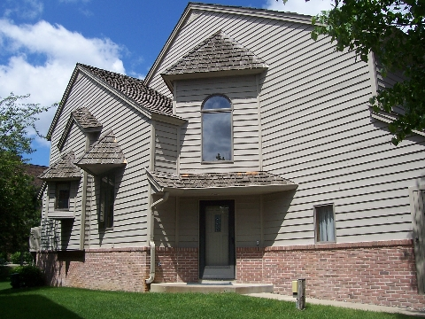 south side view of Edina luxury townhome