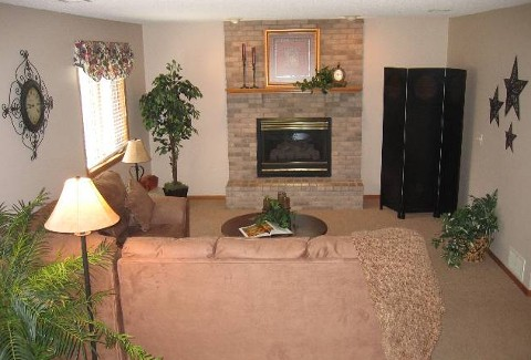nice family room in 4 br home for sale in Lakeville