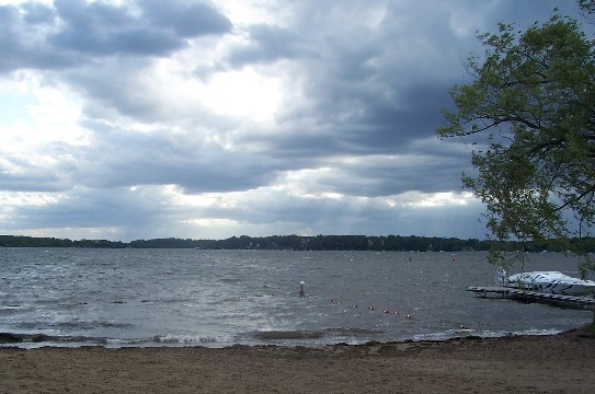 Choppy water over Cook's Bay Mound MN