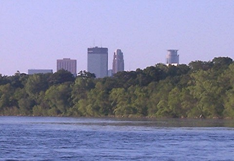 Downtown Minneapolis from Lake Harriet