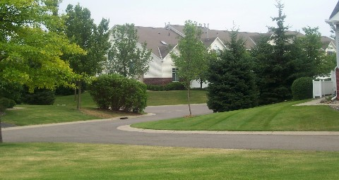 large lawn areas in hawthorne association