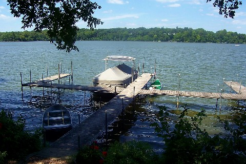 townhome has own dock and lake access