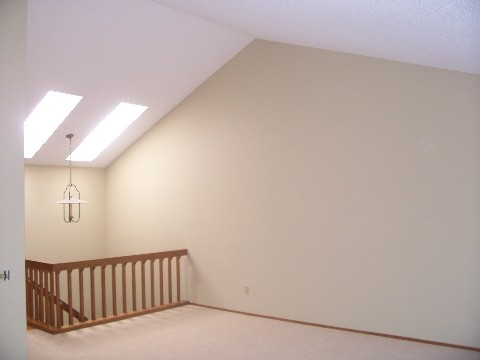 vaulted ceiling in luxury lakeshore townhome