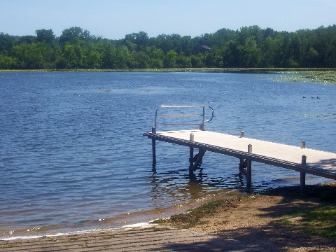 concrete ramp and dock