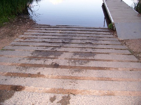 concrete ramp at fish lake