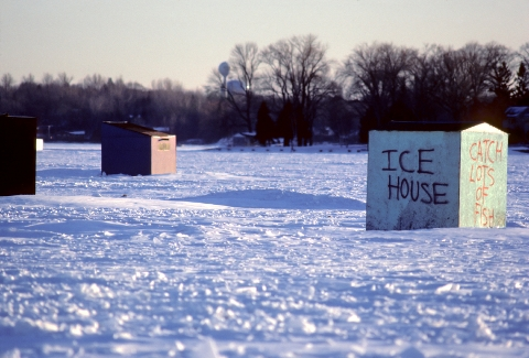 ice fishing photo for chisago real estate page