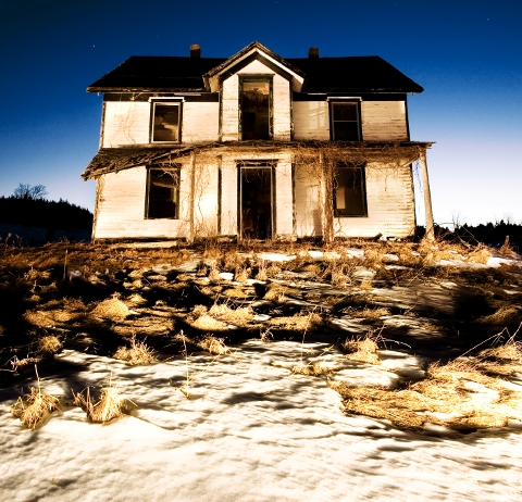 abandoned house in country
