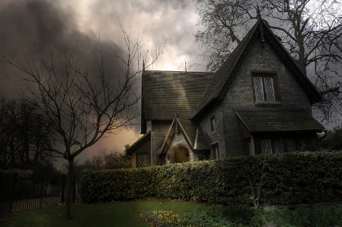 haunted house photo