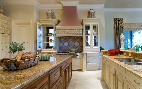 Kitchen in luxury home.