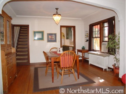 Nice woodwork for dining room in Minneapolis home