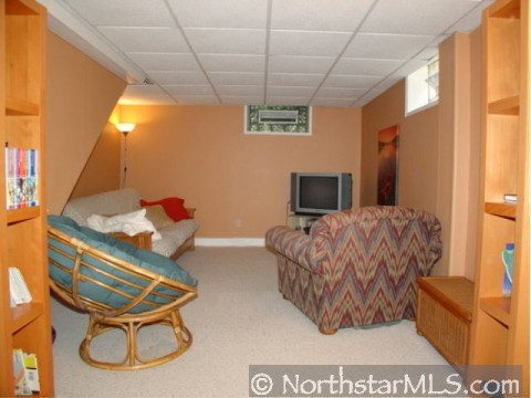 Fresh lower level family room